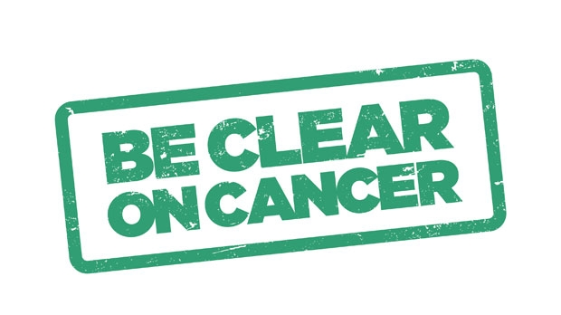 be clear on cancer lung logo